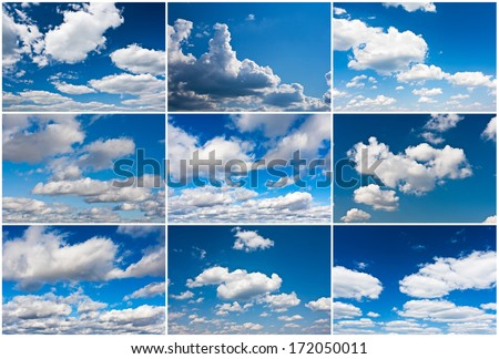 White clouds in blue summer sky background #172050011