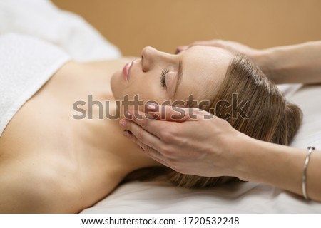 picture of beautiful woman beautiful woman in spa salon