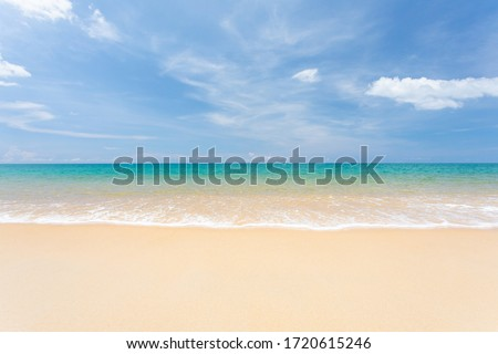 Landscape summer beach background, with sunny sky at the sea in Phuket,Thailand. #1720615246