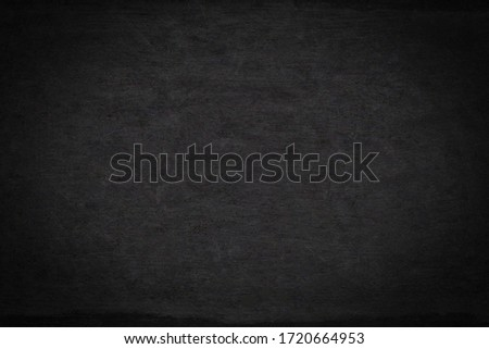 Background of black board and blank wood wall horizontal for design board school texture for pattern and backdrop. display products for interior design  websites and loft office style.
