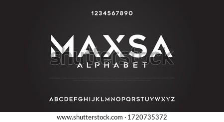 Maxsa alphabet custom text strong and funky Royalty-Free Stock Photo #1720735372