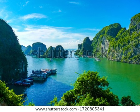 View Of Famous world heritage Halong Bay In Vietnam #1720805341