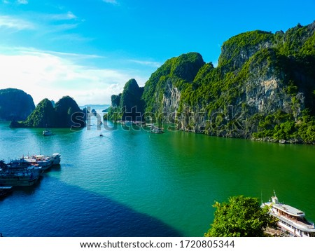 View Of Famous world heritage Halong Bay In Vietnam #1720805344