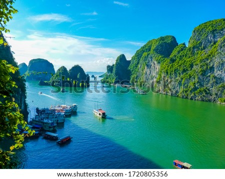 View Of Famous world heritage Halong Bay In Vietnam #1720805356