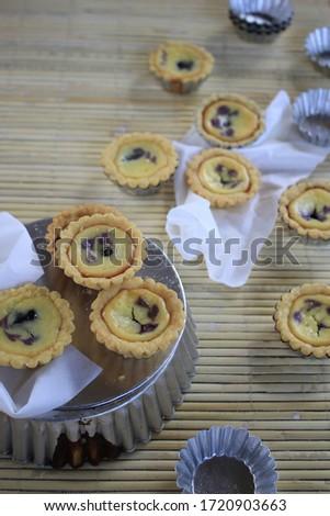 Mini Homemade Custard Pie Isolated Picture