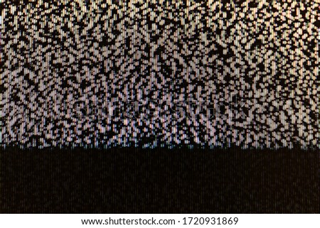 TV screen static abstract pixel glitch analog noise pixelized background texture, copy space. Retro pixelated television screen, scary creepy monitor display broadcast interference backdrop