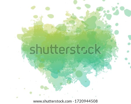 Ink Paint Brush. Psychedelic Paper Geometric Watercolor Fabric Design. Fluid Splash.  Watercolor Cover Background. Vintage Texture Illustration. Green and Aqua Menthe Abstract Texture Backdrop.  #1720944508