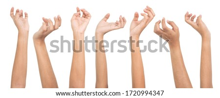 Set of woman hands isolated on white background. Royalty-Free Stock Photo #1720994347