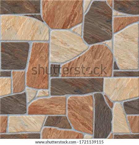 Natural Stone Tiles, Geometric Pattern Tiles Design for Parking and Floor