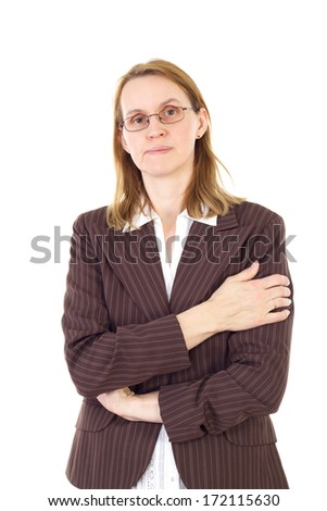 Serious woman in management thinking about solution #172115630