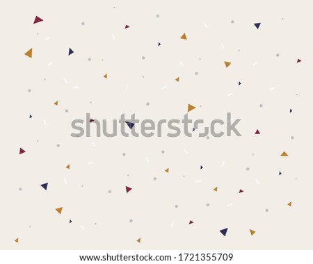 Abstract fun background - neutral color geometric forms Royalty-Free Stock Photo #1721355709