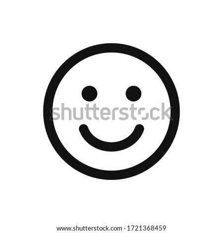 Smile icon vector. Face emoticon sign Royalty-Free Stock Photo #1721368459
