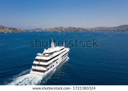 Super Mega Yacht Luxury Holiday at sea marina #1721380324