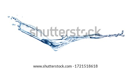 Abstract splash of water on white background. Banner design #1721518618