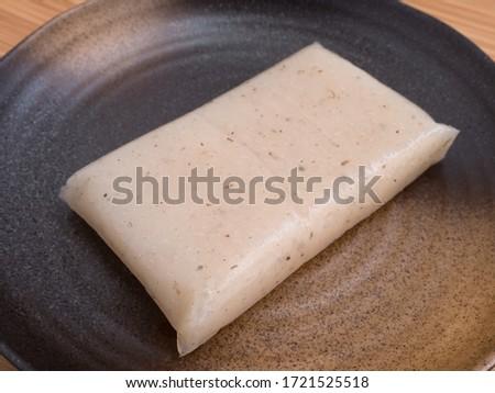 Raw konjac. It is a traditional Japanese food. #1721525518