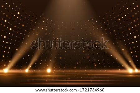 Gold lights rays scene background Royalty-Free Stock Photo #1721734960