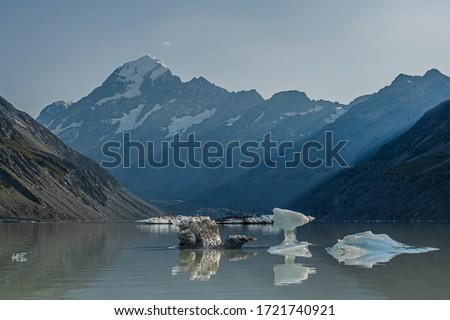 Iceberg in Hooker Lake, Mount Cook #1721740921