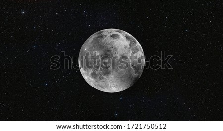 "Full  Moon in the space ""Elements of this image furnished by NASA "" Royalty-Free Stock Photo #1721750512"