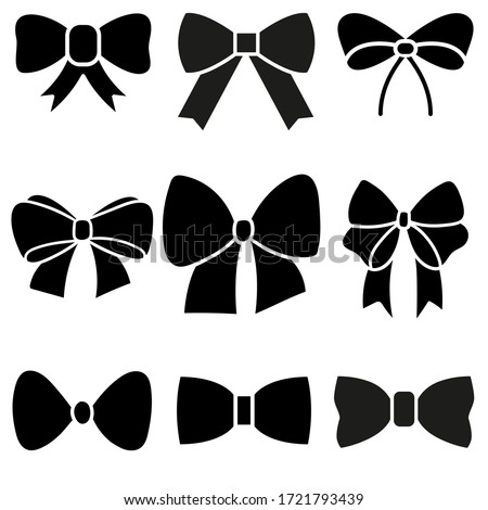 Decorative bows vector icon set. bow illustration sign collection. ribbon symbol. accessory logo.