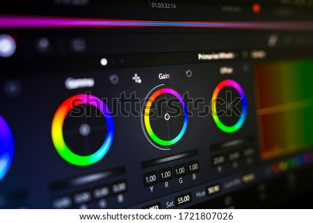 Color Correction Post Production Photo