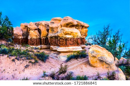 Red rock canyon sadstones view. Sandstone rock #1721886841