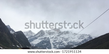 Ice valley at end of Kedarnath very rare pic