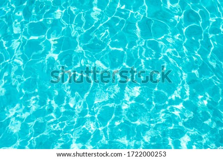 Abstract beautiful ripple wave and clear turquoise water surface in swimming pool, Turquoise or blue water wave for background and abstract #1722000253