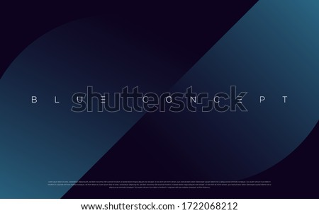 Minimalist deep blue premium abstract background with luxury geometric dark shapes. Exclusive wallpaper design for poster, brochure, presentation, website etc. - Vector EPS Royalty-Free Stock Photo #1722068212