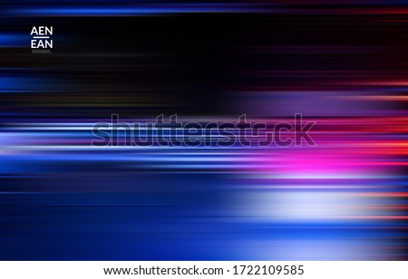 Abstract science wallpaper with speed light moving fast bright blurred lines. Cover design for internet communication data computing marketing technology. Futuristic art with fluid bright gradients. Royalty-Free Stock Photo #1722109585