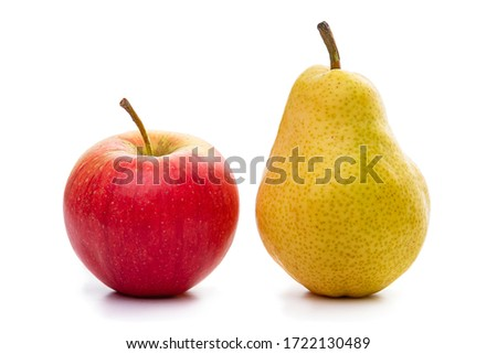 Apples and pears. Isolate on a white background. Royalty-Free Stock Photo #1722130489