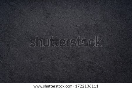 Black wall slate texture rough background, dark concrete floor or old grunge background Royalty-Free Stock Photo #1722136111