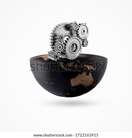 earth on gear isolate background, global engineering day, engineering day, engineering day, engineer day, Royalty-Free Stock Photo #1722163915