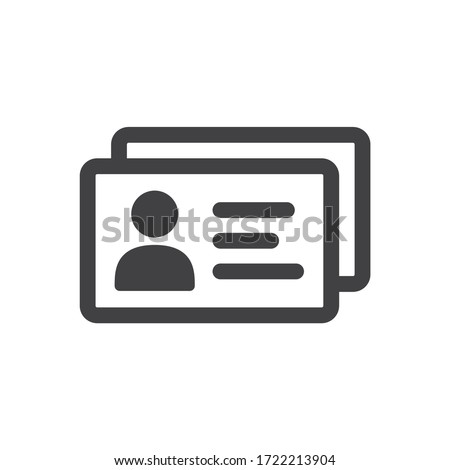 ID card vector icon. Identification card flat sign design. EPS 10 ID card pictogram sign. Member card symbol pictogram. VIP person icon #1722213904