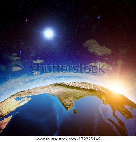 India from space. Elements of this image furnished by NASA #172225145