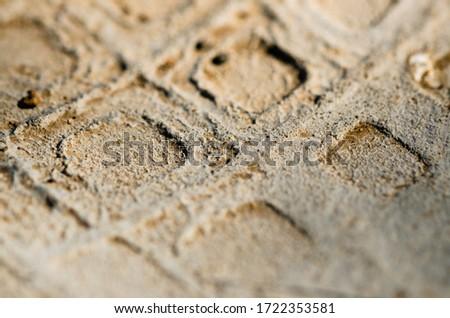 Close up of a footprint #1722353581