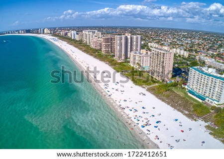 Aerial View of Marco Island, A popular Tourist Town in Florida Royalty-Free Stock Photo #1722412651