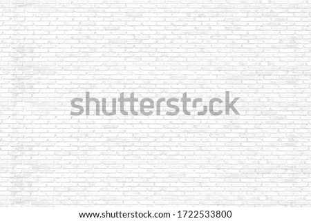 Clear or White Surface of Brick Wall Texture as Background #1722533800