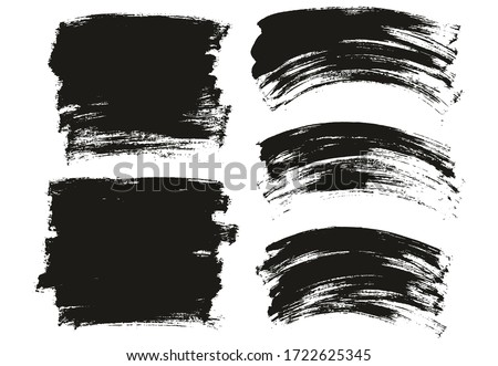 Flat Paint Brush Thin Long & Curved Background Mix High Detail Abstract Vector Background Mix Set  #1722625345