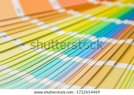 Color swatches book. Rainbow sample colors catalog. Color guide for design