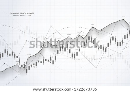 Stock market and exchange. Bullish point, Trend of graph.Graph chart of stock market investment world trading. Stock market data. Vector illustration #1722673735