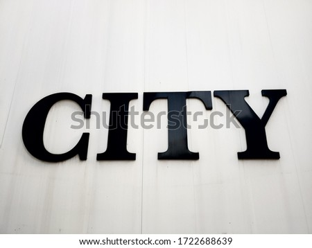 CITY symbol character-black character on white background