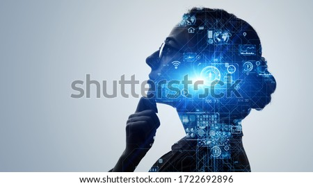 AI (Artificial Intelligence) concept. Deep learning. GUI (Graphical User Interface). Royalty-Free Stock Photo #1722692896