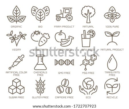Food safety vector icon set. Royalty-Free Stock Photo #1722707923