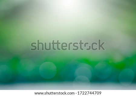 Abstract background of light  bokeh blur On green background