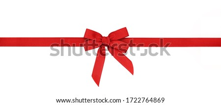 Red rep bow and ribbon isolated on white Royalty-Free Stock Photo #1722764869
