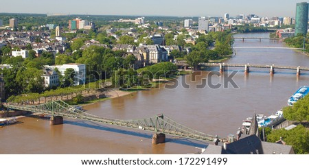 Aerial view of the city of Frankfurt am Main in Germany - wide panoramic view #172291499