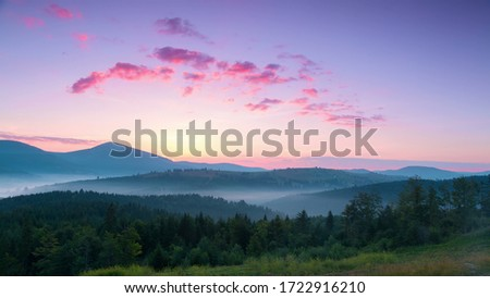 Beautiful Huangshan mountains landscape at sunrise in China. #1722916210