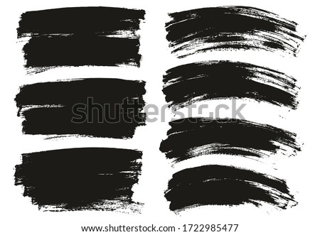 Flat Paint Brush Thin Long & Curved Background Mix High Detail Abstract Vector Background Mix Set  #1722985477