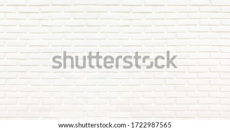 White brick wall texture for background wallpaper and graphic web design