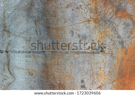 Backgrounds and textures concept.Blurred gray rusty grunge metal texture with Instagram style filter. Vintage effect. Royalty-Free Stock Photo #1723039606